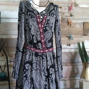 Xhilaration Boho Crosschest Mirrored Dress